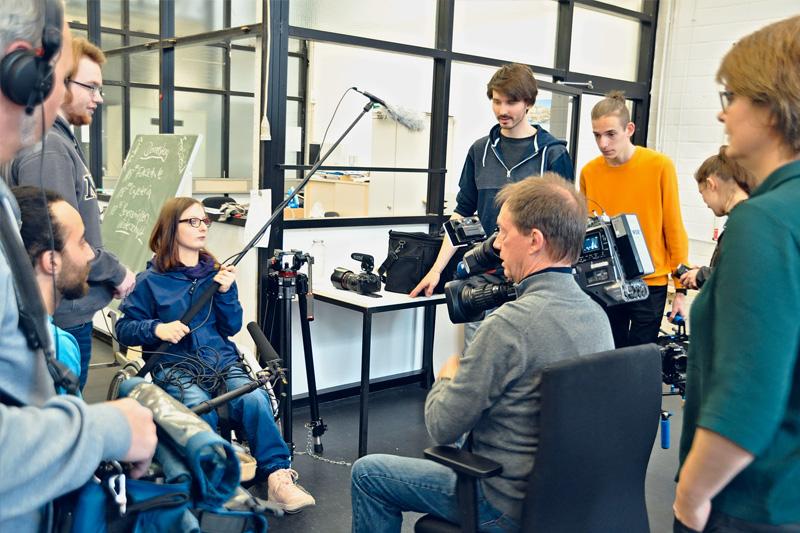 WDR dreht im Berufsbildungswerk