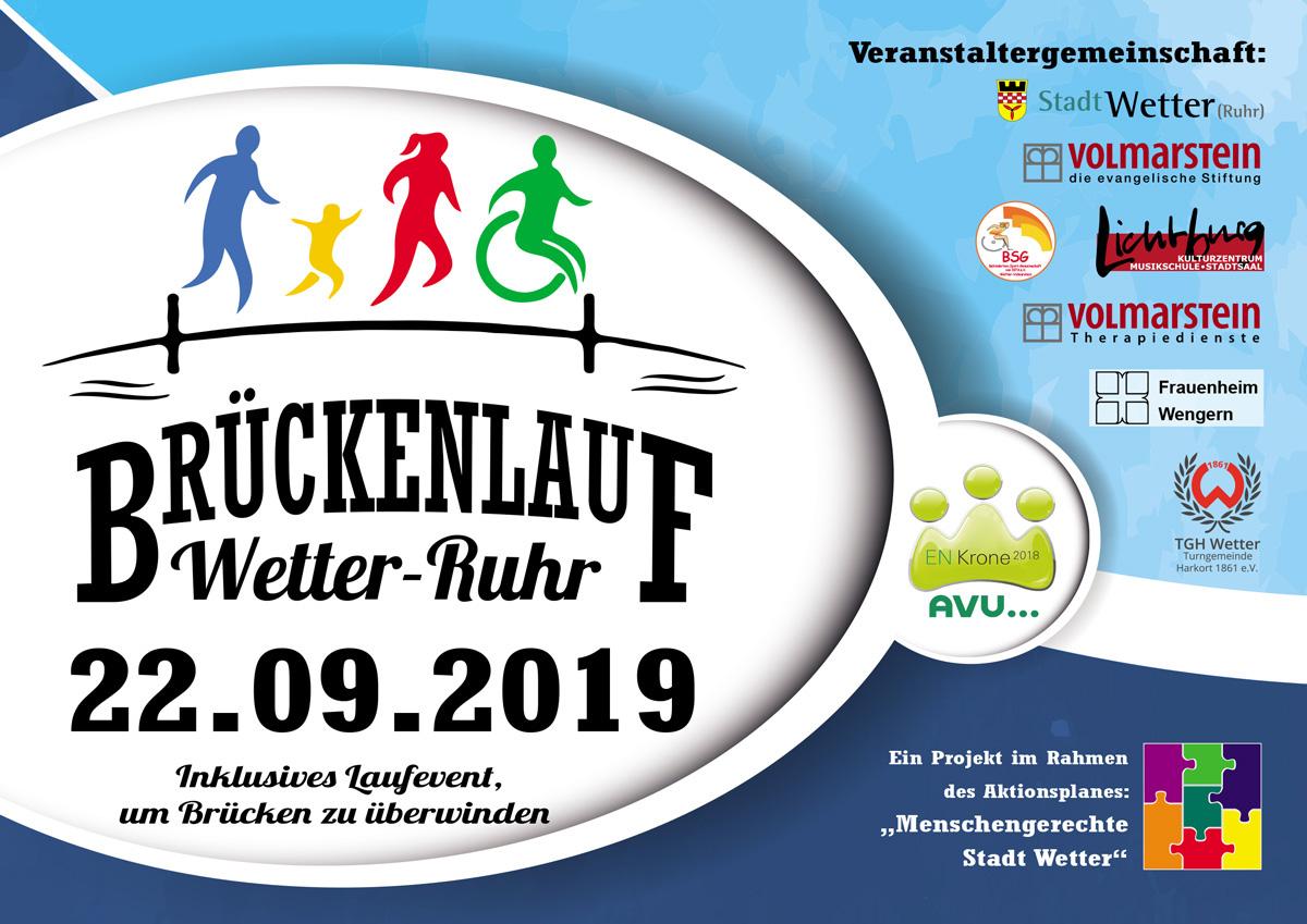 Plakat Brückenlauf Wetter (Ruhr)