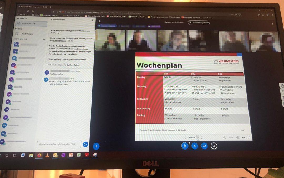 Das virtuelle Klassenzimmer am BBW Volmarstein